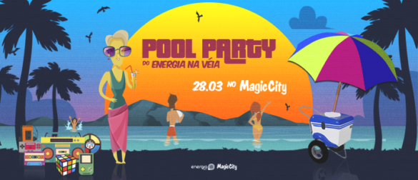 Muito Flash Back na Pool Party do Energia na Véia no Magic City